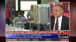 Alimentación escolar tendría mayor cantidad de calorías de lo indicado