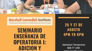 Seminario Enseñanza de Operatoria. Agosto – Septiembre 2020